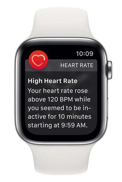 Apple Watch: High Heart Rate Warning