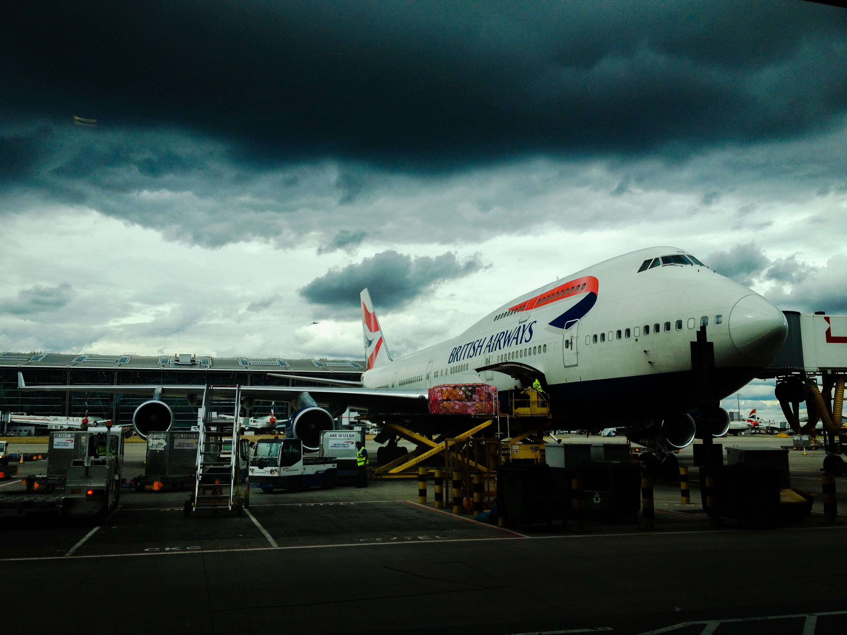 British Airways Airplane at Gate