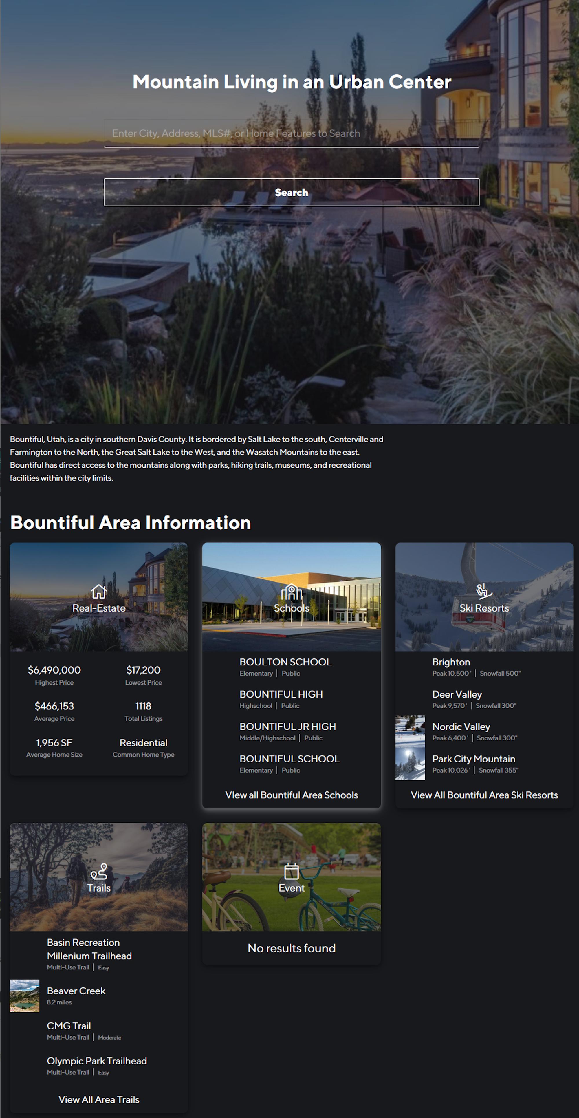 Compass Screenshot: Mountain Living in the City (Bountiful)