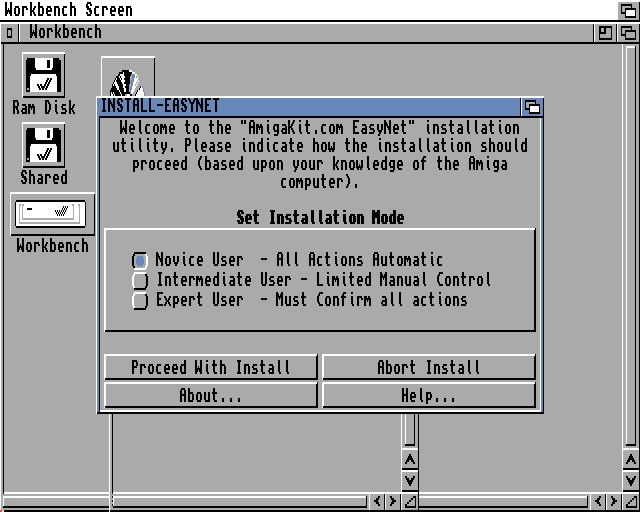 Starting the EasyNet installer