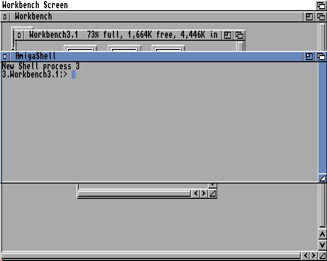 Amiga Workbench a CLI shell