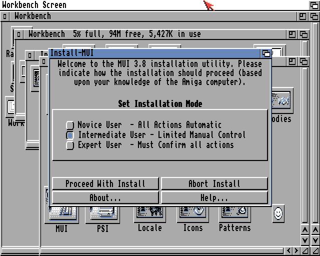 MUI installer launch