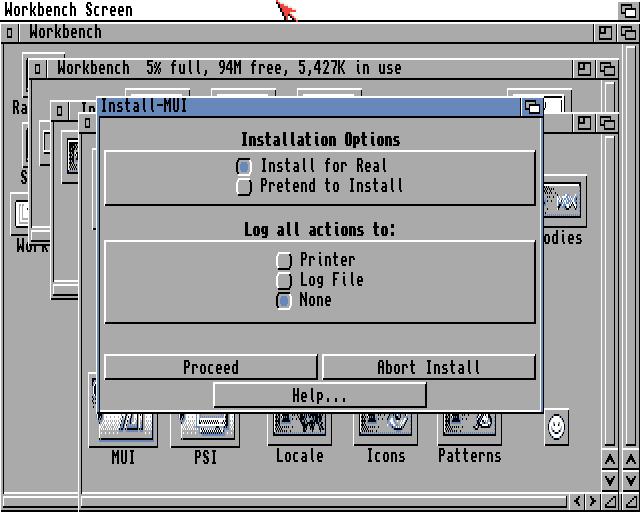 MUI installer options