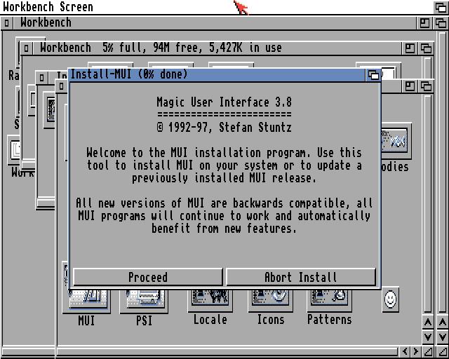MUI wants to install MUI