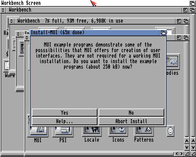 MUI demo programs request