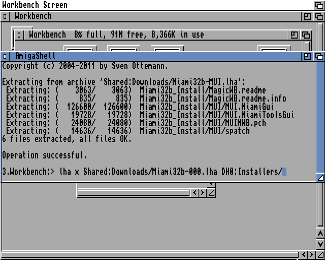 Command to extract the Miami generic binary archive