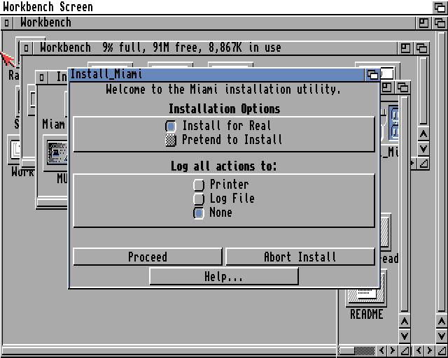 Miami Installer Initial Screen