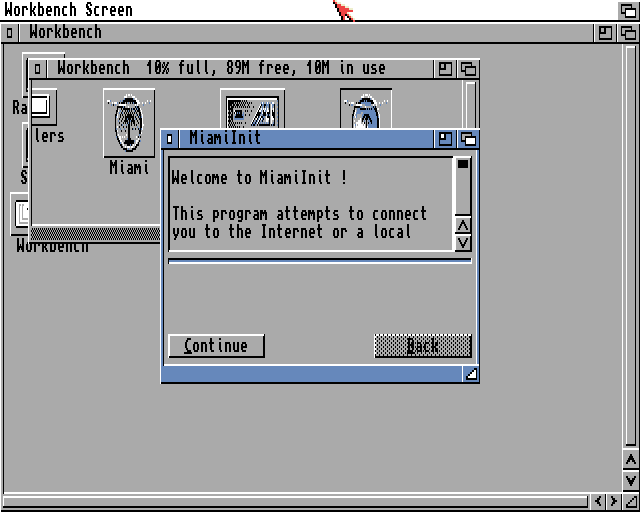 The first screen of MiamiInit