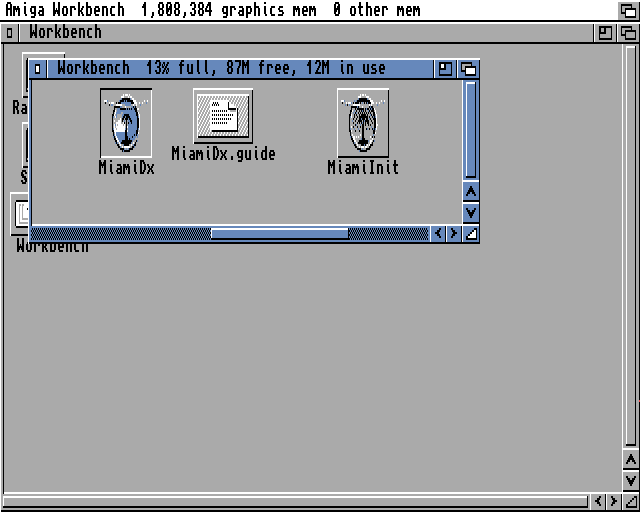 Selecting the MiamiDx icon