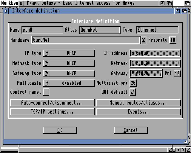 Defining network IP information