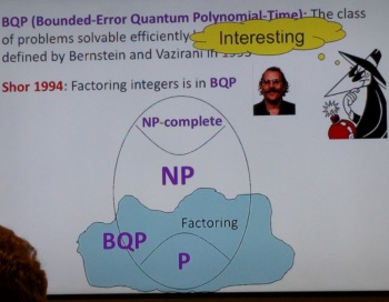 Scott Aaaronson's slide of the BQP problem class