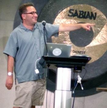 Scott Aaaronson giving a presentation at the Austin Quantum Computing meetup