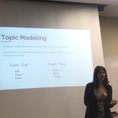 Data scientist Becky talks about topic modeling