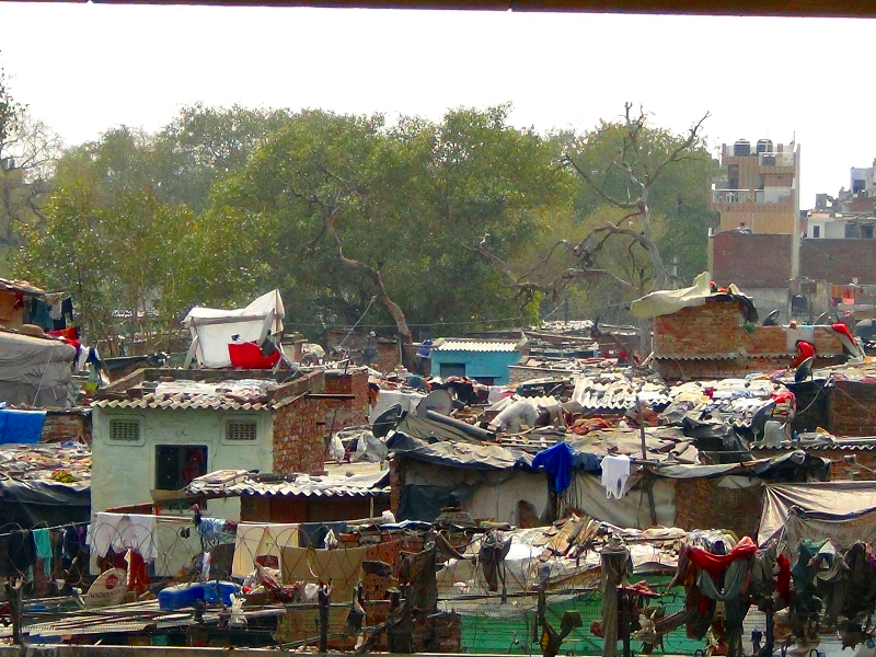 Outer view of the kathputli colony