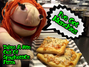 I've Got Munchies- Takes A Bite Out Of SpaghettiOs Pizza
