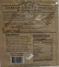 Samak Smoke House - Teriyaki Peppered Beef Jerky