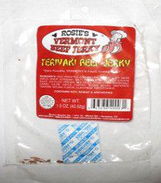 Rosie's Vermont Beef Jerky - Teriyaki Beef Jerky