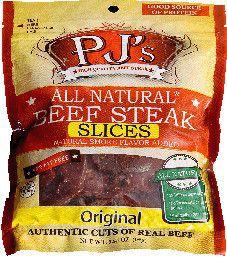 PJ's All Natural Beef Steak - Original  Beef Steak Slices