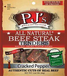 PJ's All Natural Beef Steak - Cracked Pepper Beef Steak Tenders