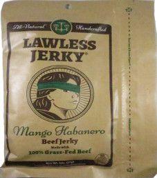 Lawless Jerky - Mango Habanero 100% Grass Fed Beef Jerky