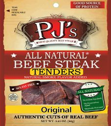 PJ's All Natural Beef Steak - Original  Beef Steak Tenders