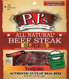 PJ's All Natural Beef Steak - Teriyaki Beef Steak Slices