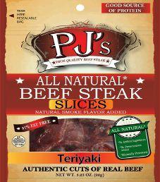 PJ's All Natural Beef Steak - Teriyaki Beef Steak Slices