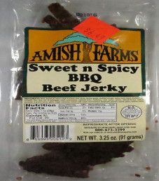 Amish Farms - Sweet n Spicy BBQ Beef Jerky