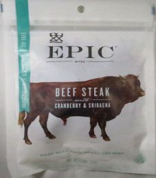 EPIC Bites - Cranberry & Sriracha Beef Steak