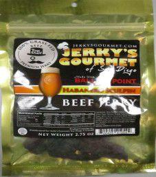 Jerky's Gourmet of San Diego - Ballast Point Habanero Sculpin Beef Jerky