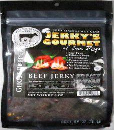 Jerky's Gourmet of San Diego - Ghost Pepper 100% grass-fed Beef Jerky