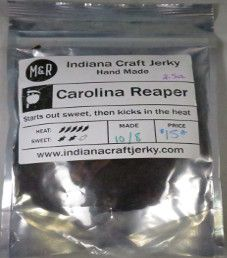 Indiana Craft Jerky - Carolina Reaper Beef Jerky
