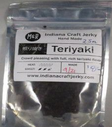 Indiana Craft Jerky - Teriyaki Beef Jerky