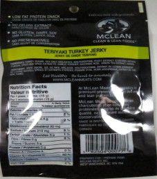 McLean- Teriyaki Turkey Jerky