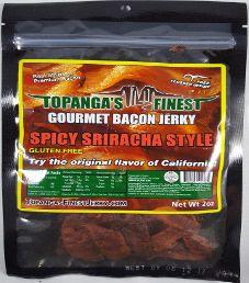 Topanga's Finest - Spicy Sriracha Style Bacon Jerky