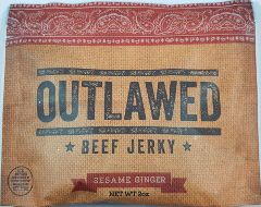 Outlawed Jerky - Sesame Ginger Beef Jerky