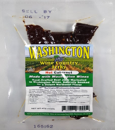 Washington Wine Country Jerky - Hot Cabernet Beef Jerky