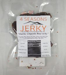 4 Seasons Jerky - Garlic Chipotle Beef Jerky