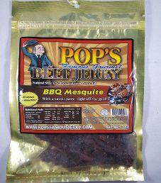Pop's Famous Gourmet Beef Jerky - BBQ Mesquite Beef Jerky