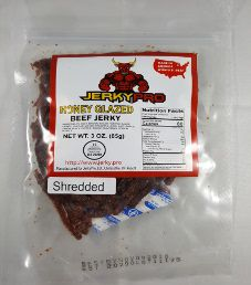 JerkyPro - Honey Glazed Shredded 100% Grass-Fed Beef Jerky