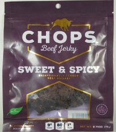 Chops Beef Jerky - Sweet & Spicy Beef Jerky