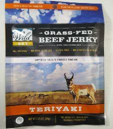 Wild Sky - Teriyaki 100% Grass-Fed Beef Jerky