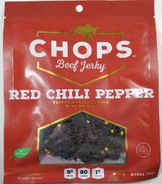 Chops Beef Jerky - Red Chili Pepper Beef Jerky