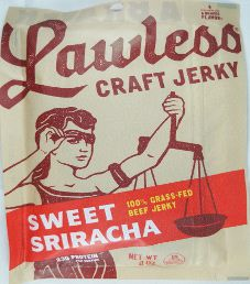 Lawless Jerky - Sweet Sriracha 100% Grass-Fed Beef Jerky (Review #2)