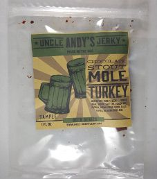 Uncle Andy's Jerky - Chocolate Stout Mole Turkey Jerky