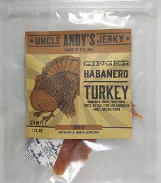 Uncle Andy's Jerky - Ginger Habanero Turkey Jerky
