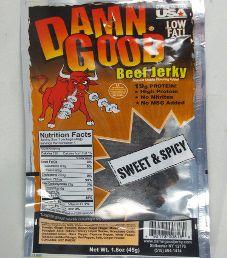 Damn Good - Sweet & Spicy Beef Jerky (Recipe #3)