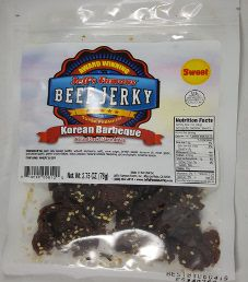 Jeff's Famous Jerky - Korean Barbecue Beef Jerky