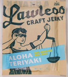 Lawless Jerky - Aloha Teriyaki 100% Grass-Fed Beef Jerky (Recipe #2)