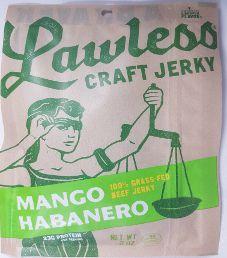 Lawless Jerky - Mango Habanero 100% Grass-Fed Beef Jerky (Recipe #2)